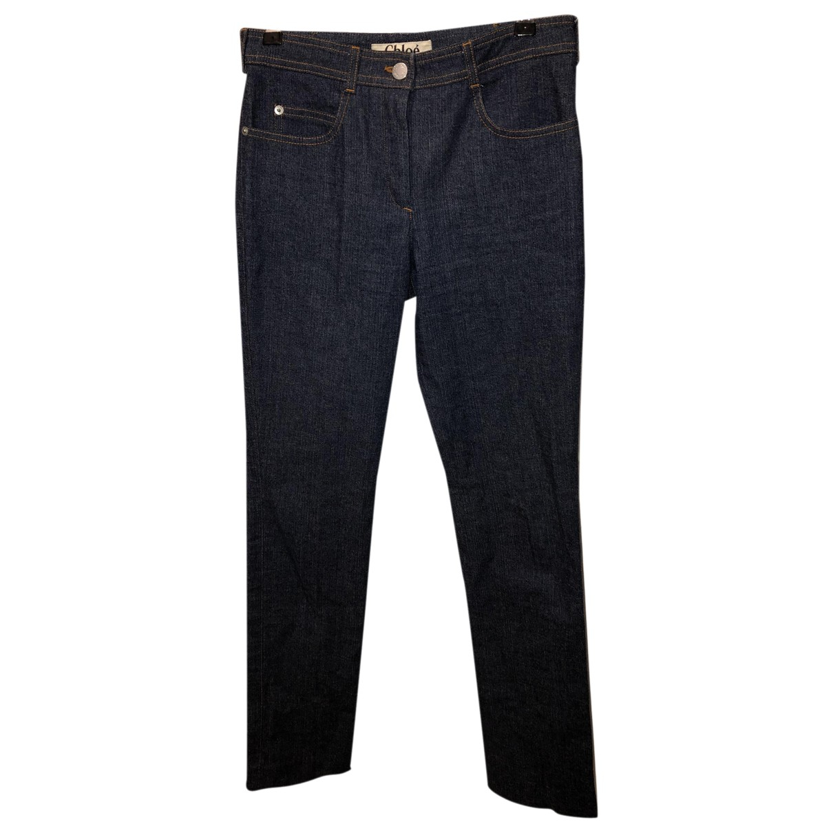 Chloé \N Navy Cotton Jeans for Women 36 FR