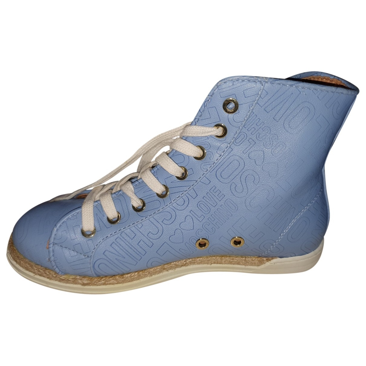 Moschino \N Blue Leather Trainers for Women 38 EU