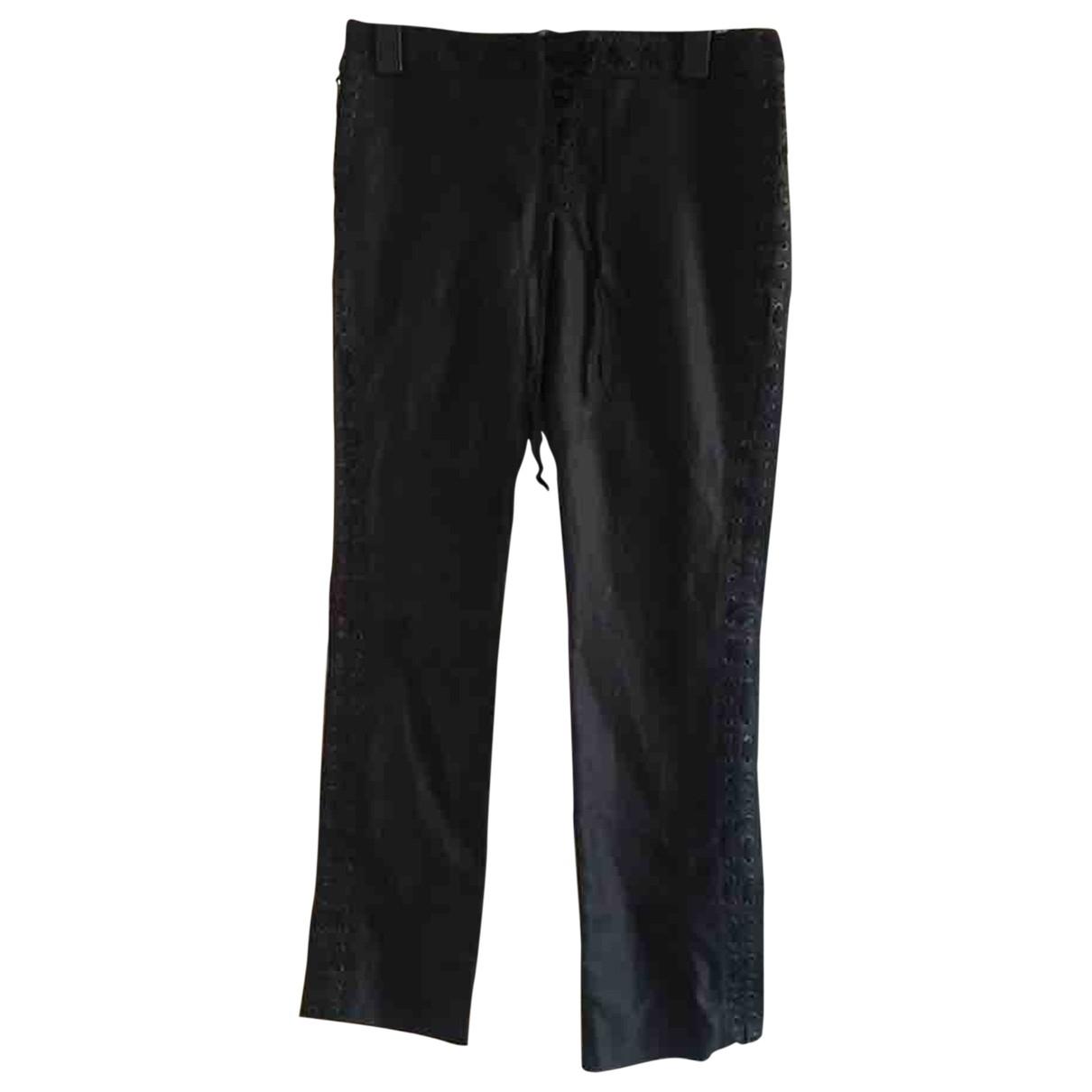 Yves Saint Laurent \N Black Denim - Jeans Jeans for Women 42 FR