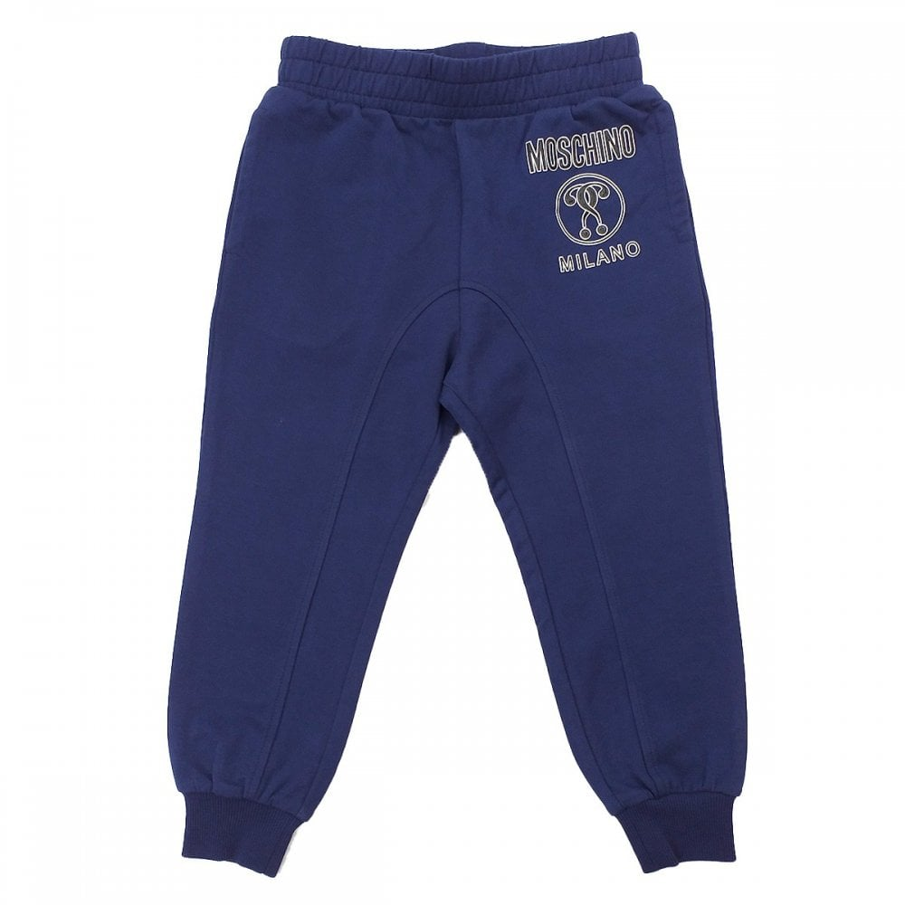 Moschino Joggers Colour: NAVY, Size: 12 YEARS