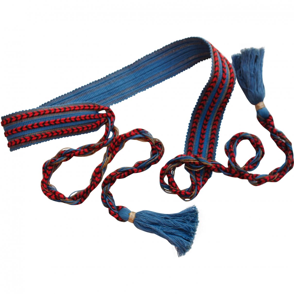 Yves Saint Laurent \N Blue Cotton belt for Women 85 cm