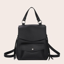 Minimalist Drawstring Decor Backpack