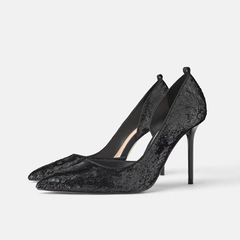 Ericdress Pointed Toe Stiletto Heel Cross Strap Women's Pumps