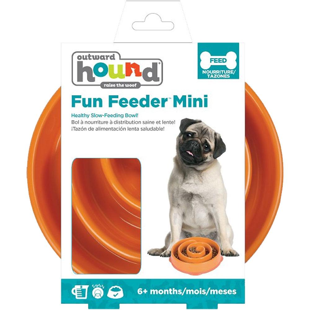 Outward Hound Fun Feeder Mini - Coral Orange