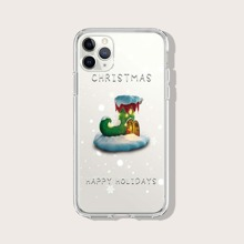 Christmas Socks Clear iPhone Case