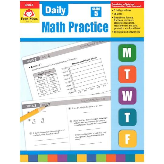 Evan Moor® Daily Math Practice, Grade 5 By Evan-Moor Educational Publishers | Michaels®