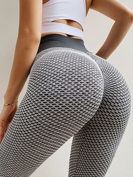 Milanoo Yoga Pants Polyester Net Yoga Leggings
