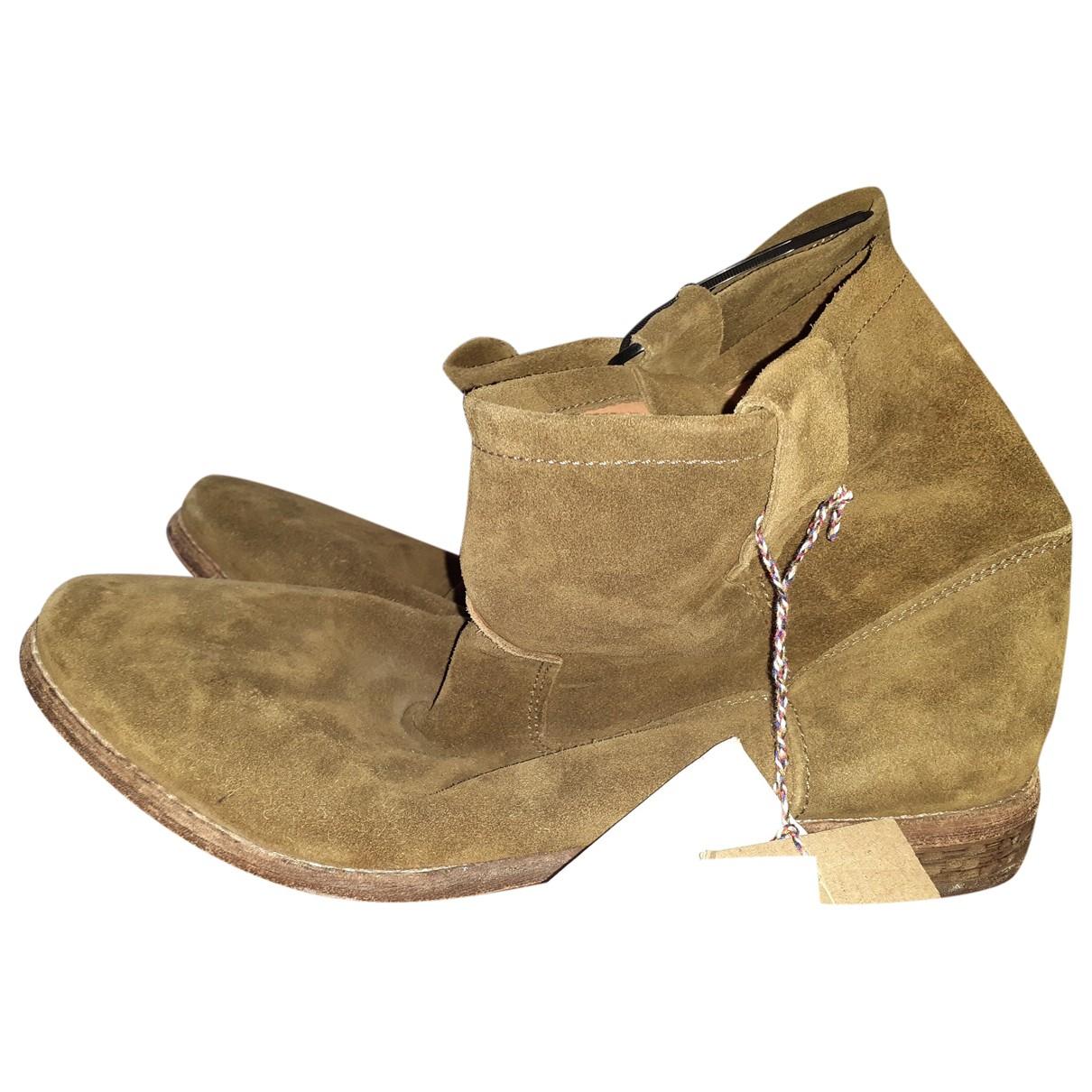 Isabel Marant Pour H&m \N Camel Suede Boots for Men 44 EU