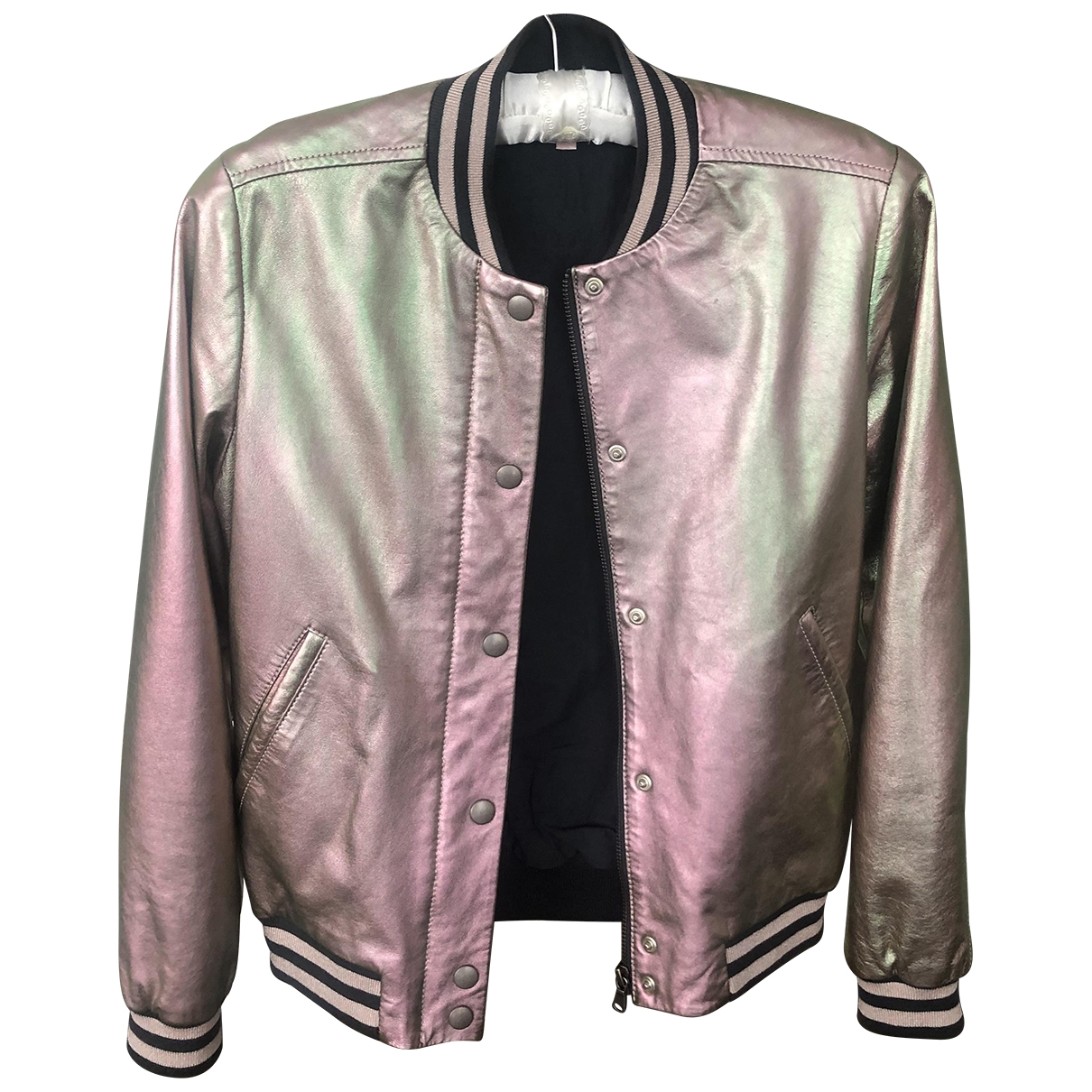 Bonpoint \N Pink Leather jacket & coat for Kids 14 years - S UK