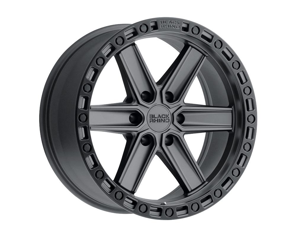 Black Rhino Henderson Wheel 20x9.5  6x139.7 18mm Gun Black w/Black Lip Edge & Black Bolts