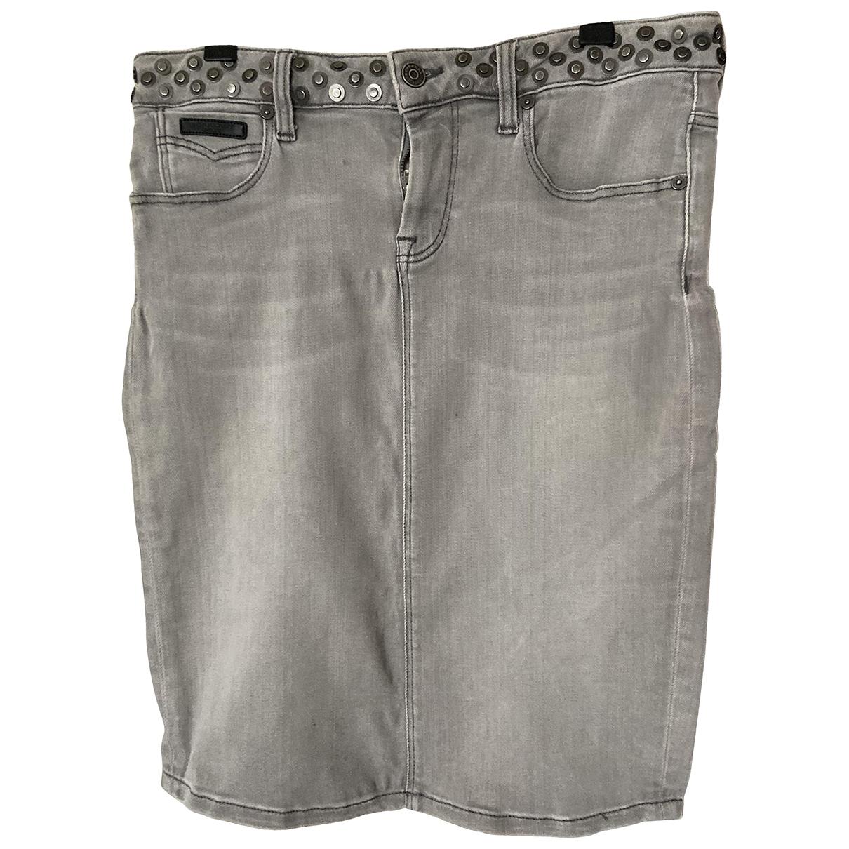 Burberry \N Grey Cotton skirt for Women 8 UK