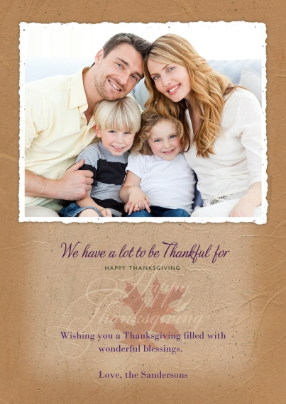 Thanksgiving Photo Cards 5x7 Cards, Premium Cardstock 120lb with Rounded Corners, Card & Stationery -Happy Thanksgiving