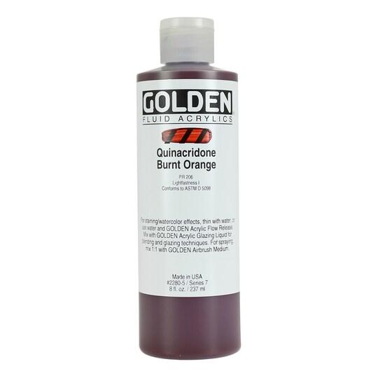 Golden® Fluid Acrylics 8 oz Paint in Quinacridone Burnt Orange   Michaels®
