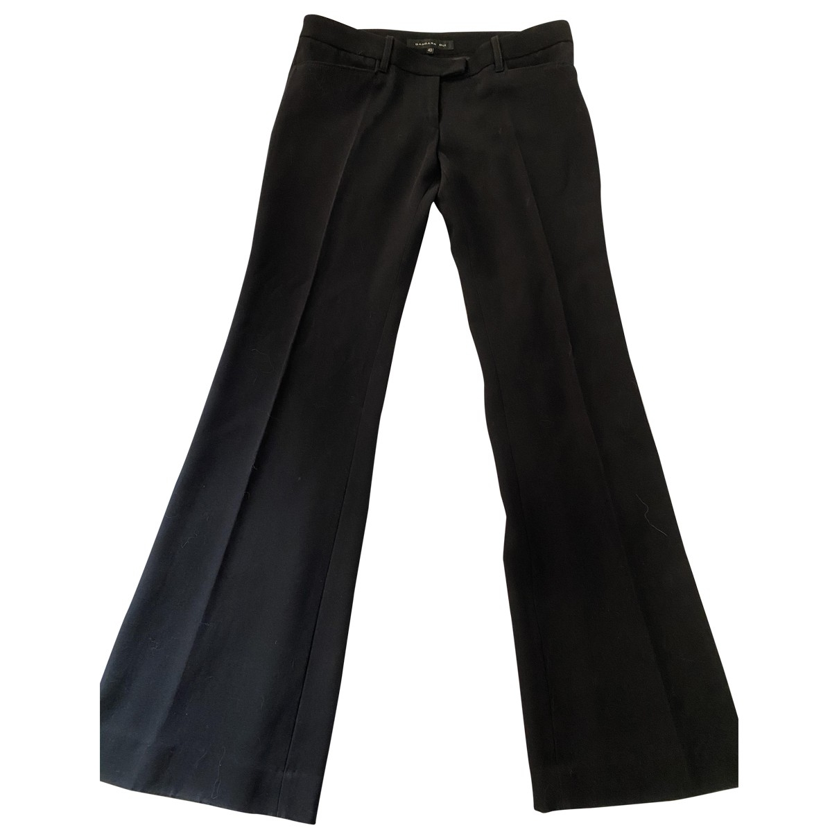 Barbara Bui \N Black Wool Trousers for Women 40 FR