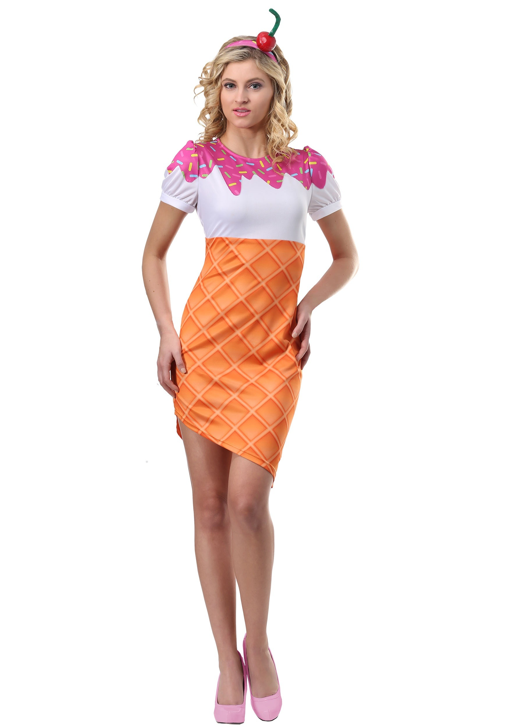 Ice Cream Cone Costume for Women