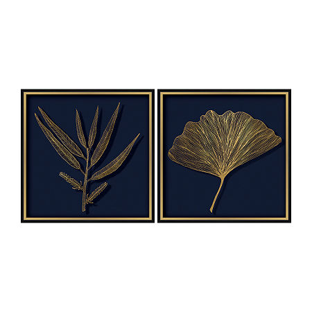 Boston Warehouse 19x19 Gingko & Willow Set 2-pc. Framed Art, One Size , Blue