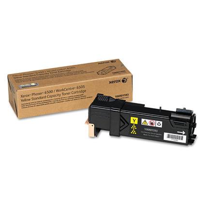 Xerox 106R01593 Original Yellow Toner Cartridge For Phaser 6500 WorkCentre 6505 Printer