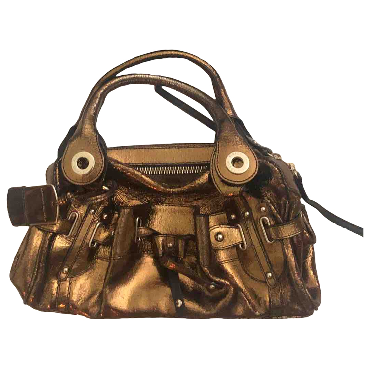 Alessandro Dell'acqua \N Gold Leather handbag for Women \N