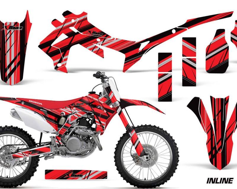 AMR Racing Dirt Bike Graphics Kit Decal Sticker Wrap For Honda CRF250R 2014-2017áINLINE RED BLACK