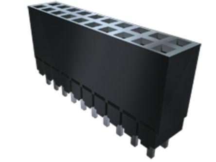 Samtec , ESW 2.54mm Pitch 26 Way 2 Row Straight PCB Socket, Through Hole, Solder Termination (17)