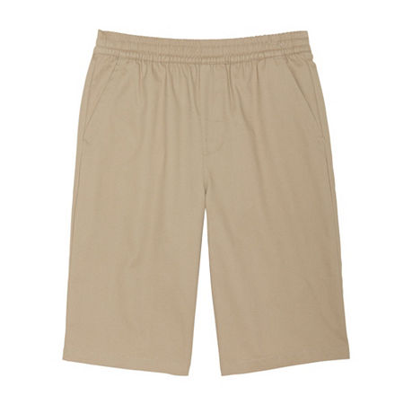 French Toast Little & Big Boys Mid Rise Chino Short, 6 , Beige