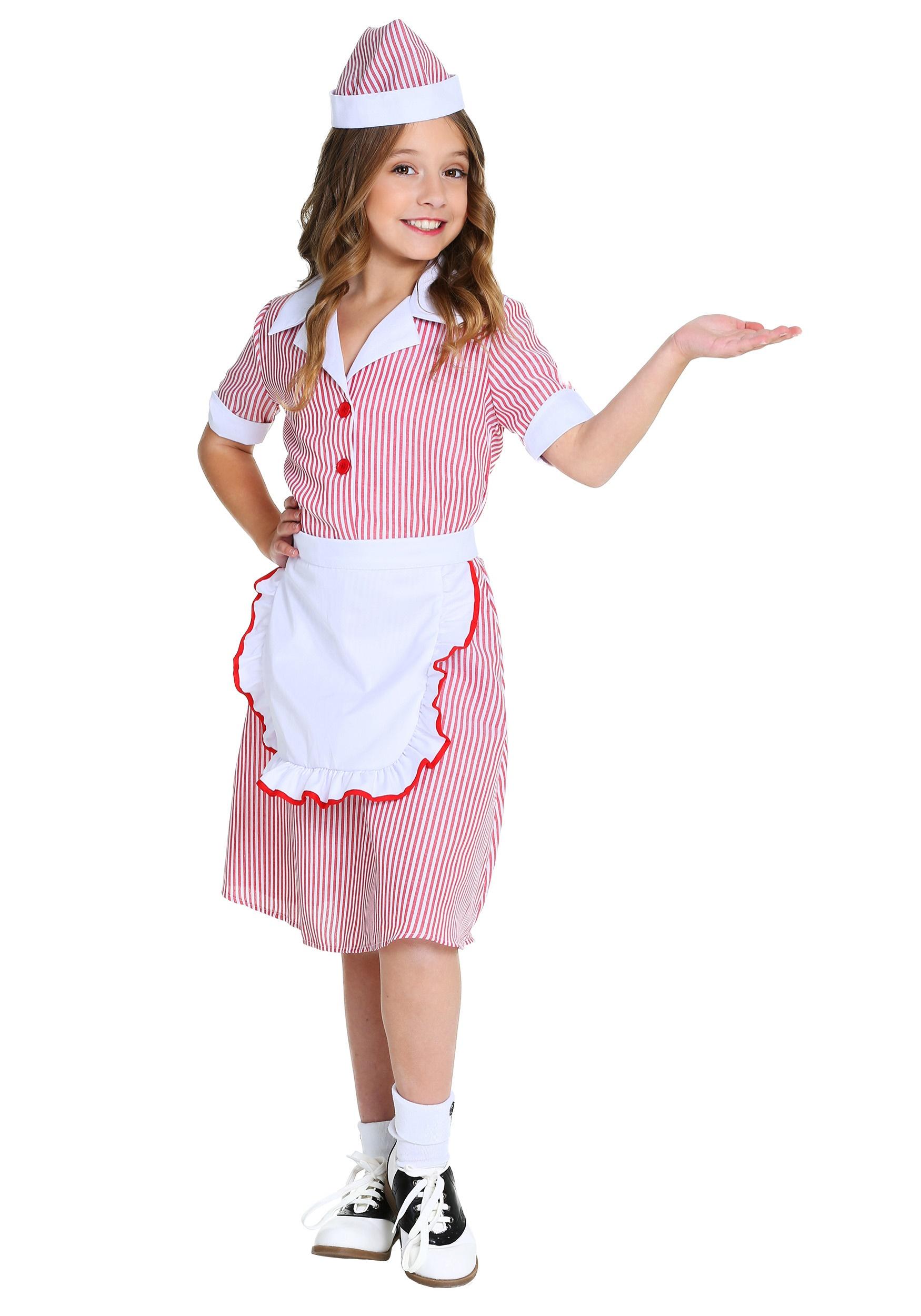 50s Car Hop Costume for Girls