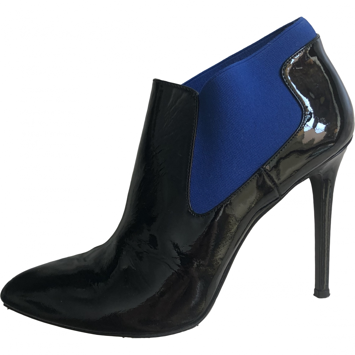 Alberto Guardiani \N Black Patent leather Ankle boots for Women 40 EU