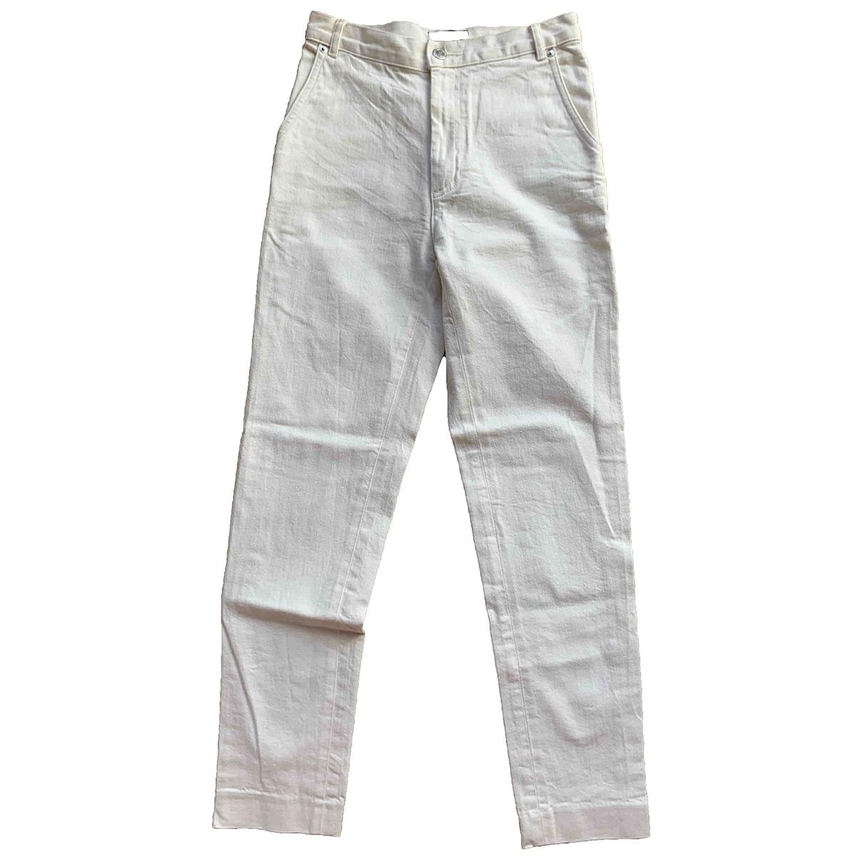 Apc Vanessa seward White Cotton Jeans for Women 36 FR