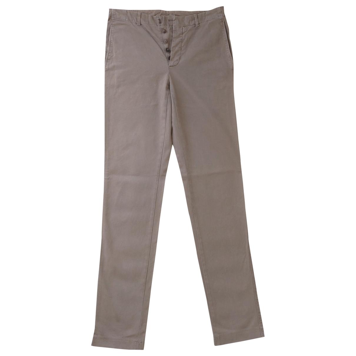 Jil Sander \N Beige Cotton Trousers for Men 44 IT