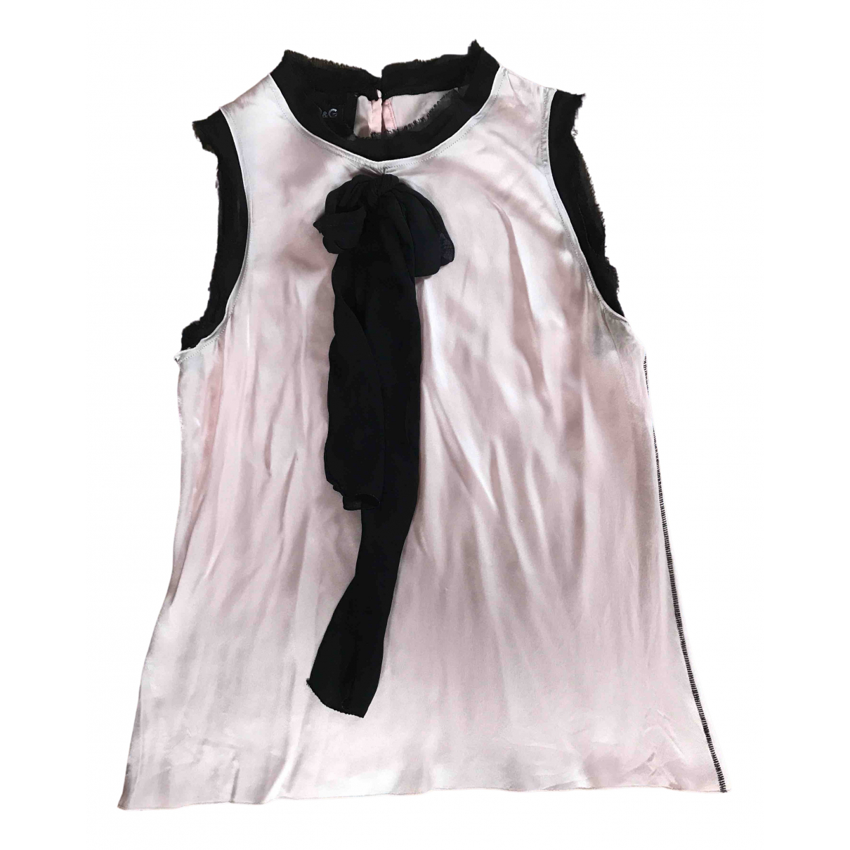 D&g \N Top in  Rosa Seide