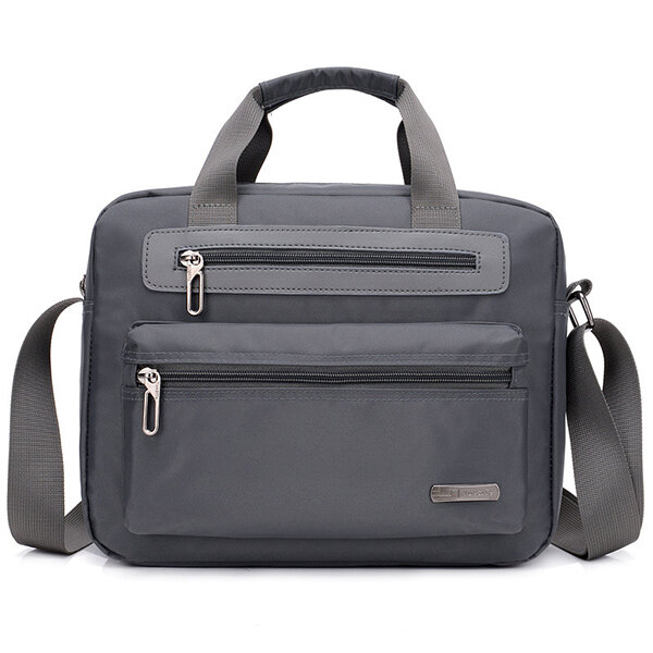 Men Waterproof Solid Plain Business Bag Crossbody Bag