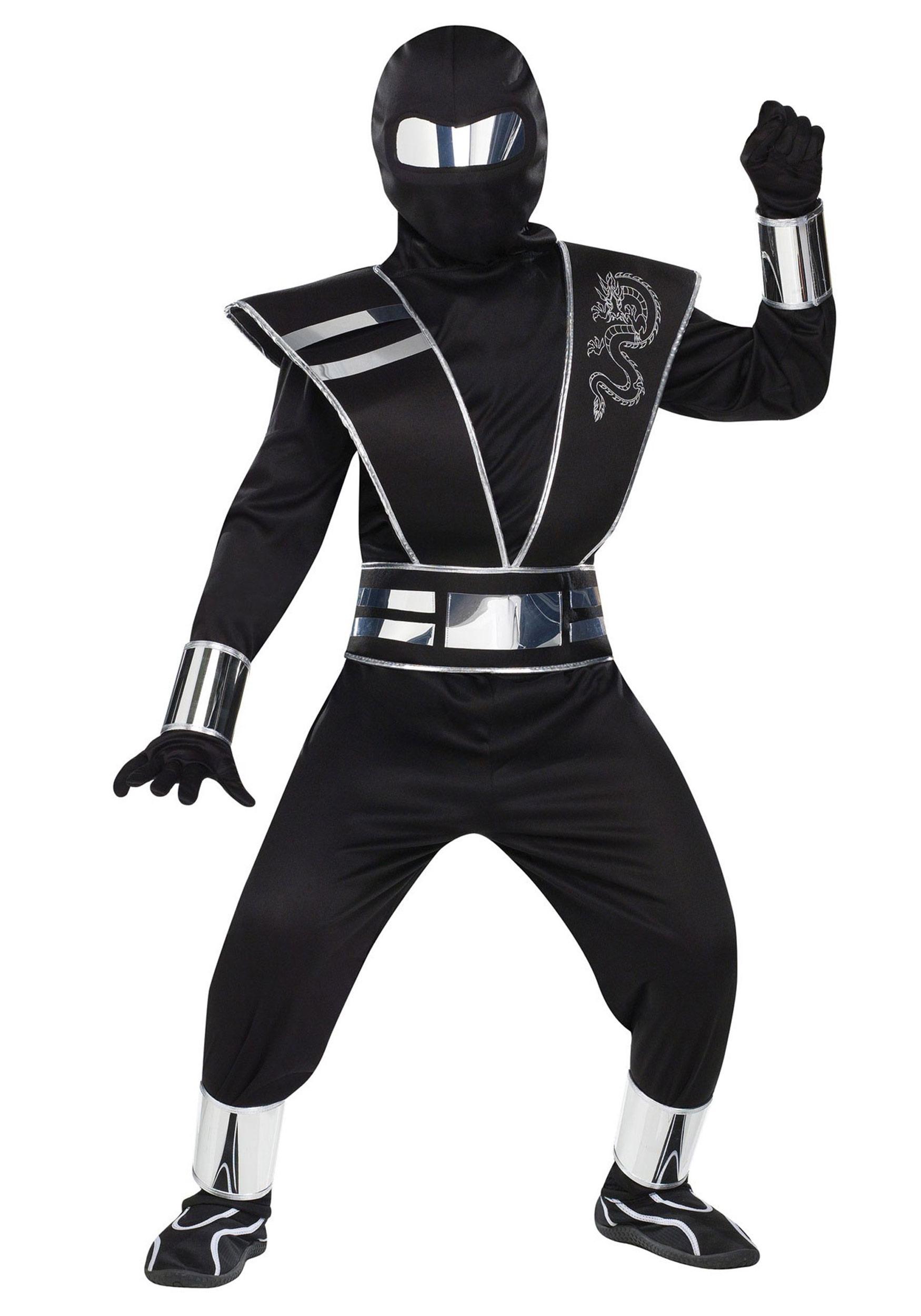 Silver Mirror Ninja Costume for Kids