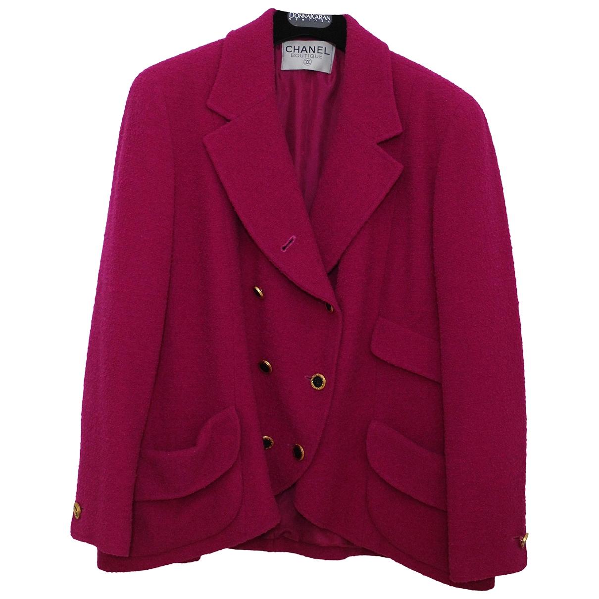 Chanel \N Pink Tweed jacket for Women 46 FR