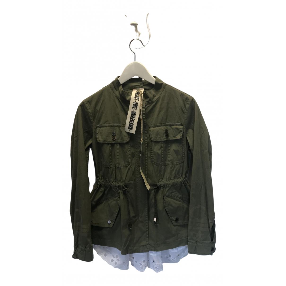 Project Foce Single Season \N Khaki Cotton jacket for Women 40 IT