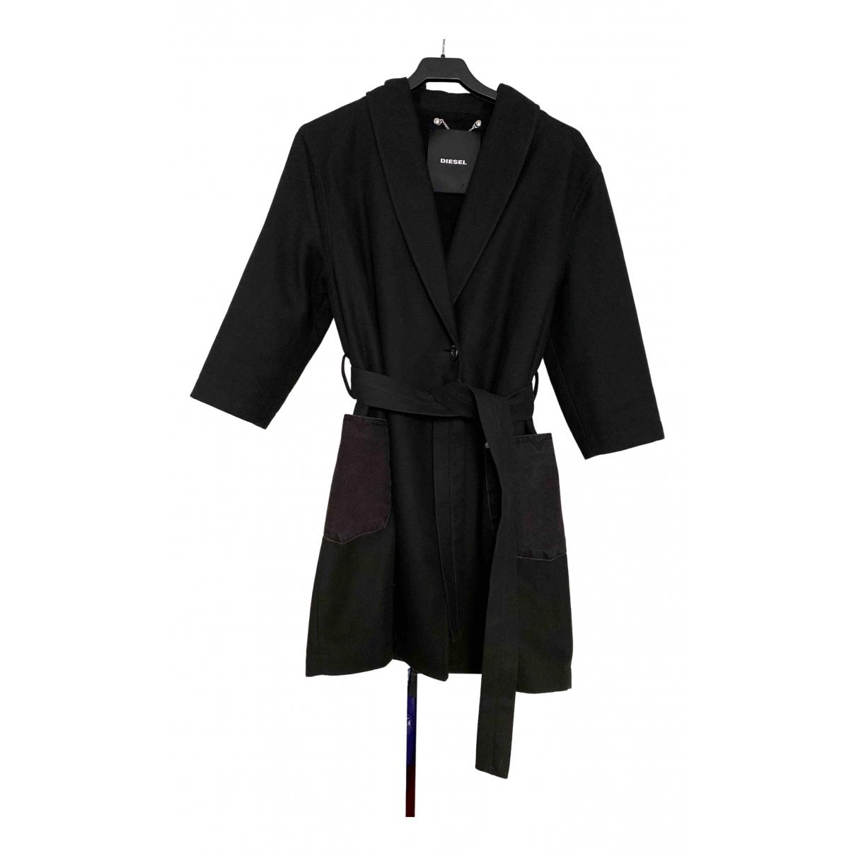 Diesel \N Black Cotton coat for Women 42 IT