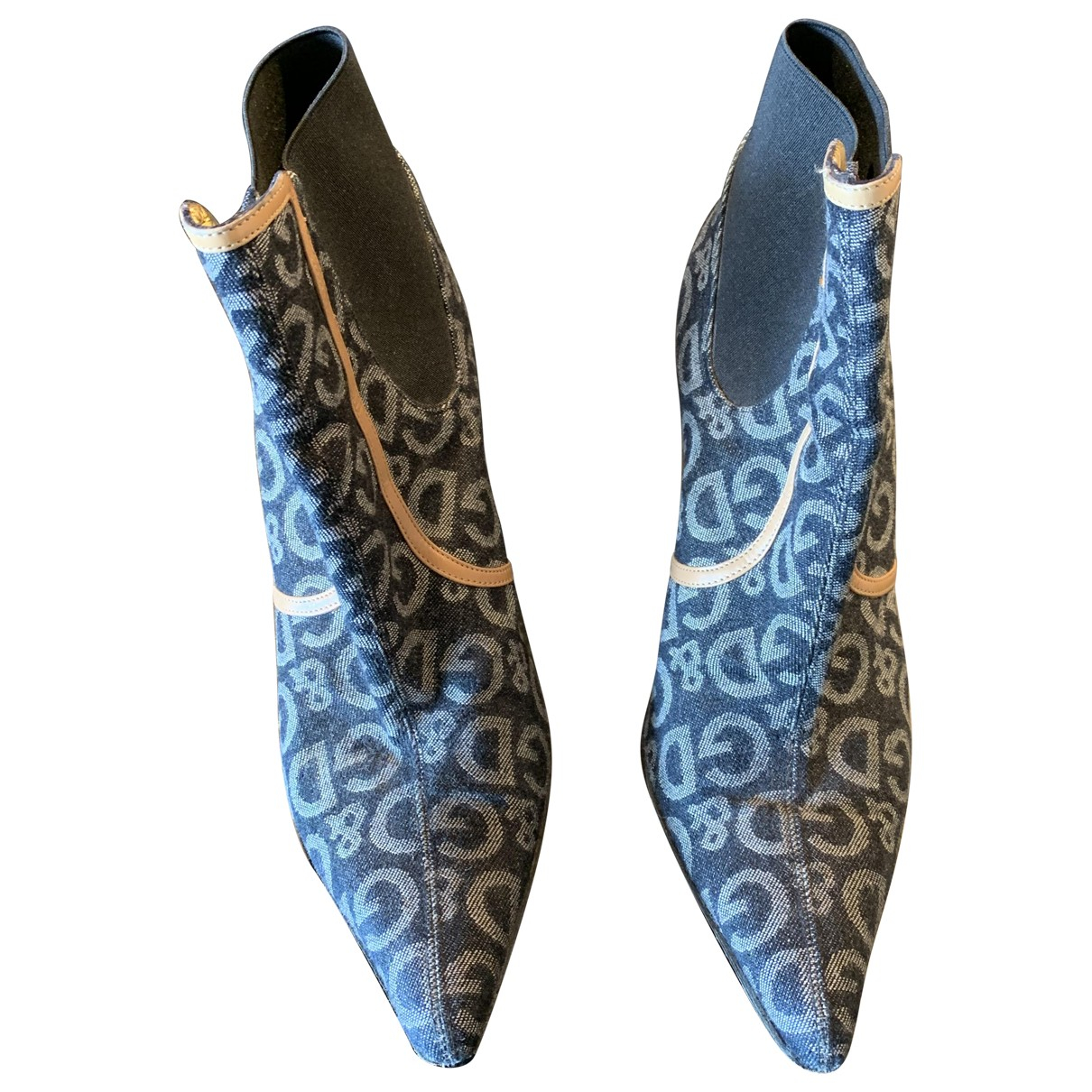 D&g \N Blue Cloth Ankle boots for Women 38.5 EU
