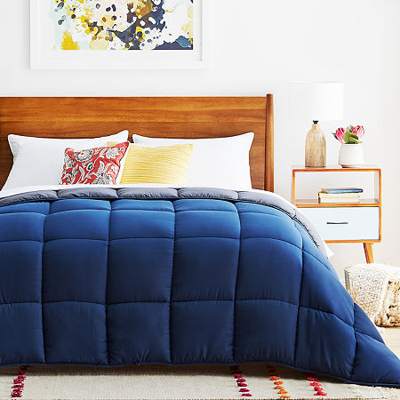 Linenspa Reversible Down Alternative Comforter, One Size , Blue