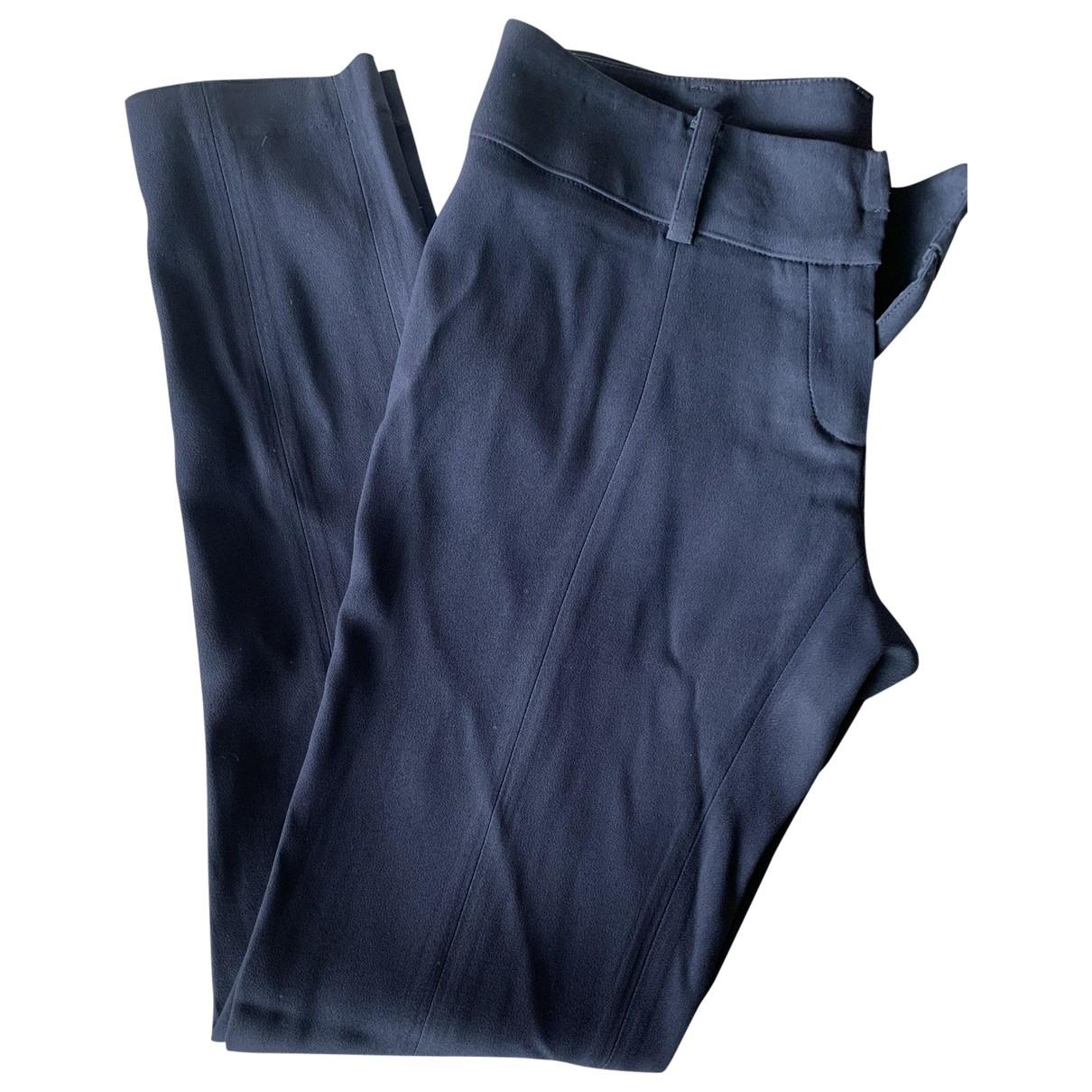 Patrizia Pepe \N Navy Trousers for Women 42 IT