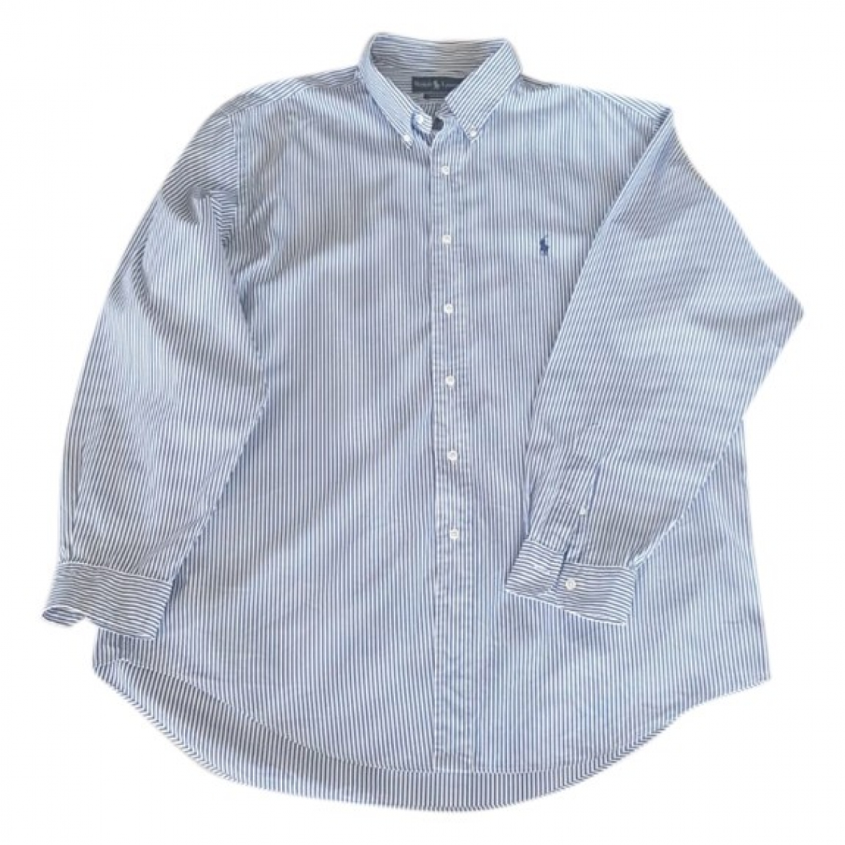 Polo Ralph Lauren \N Navy Cotton Shirts for Men 17.5 UK - US (tour de cou / collar)