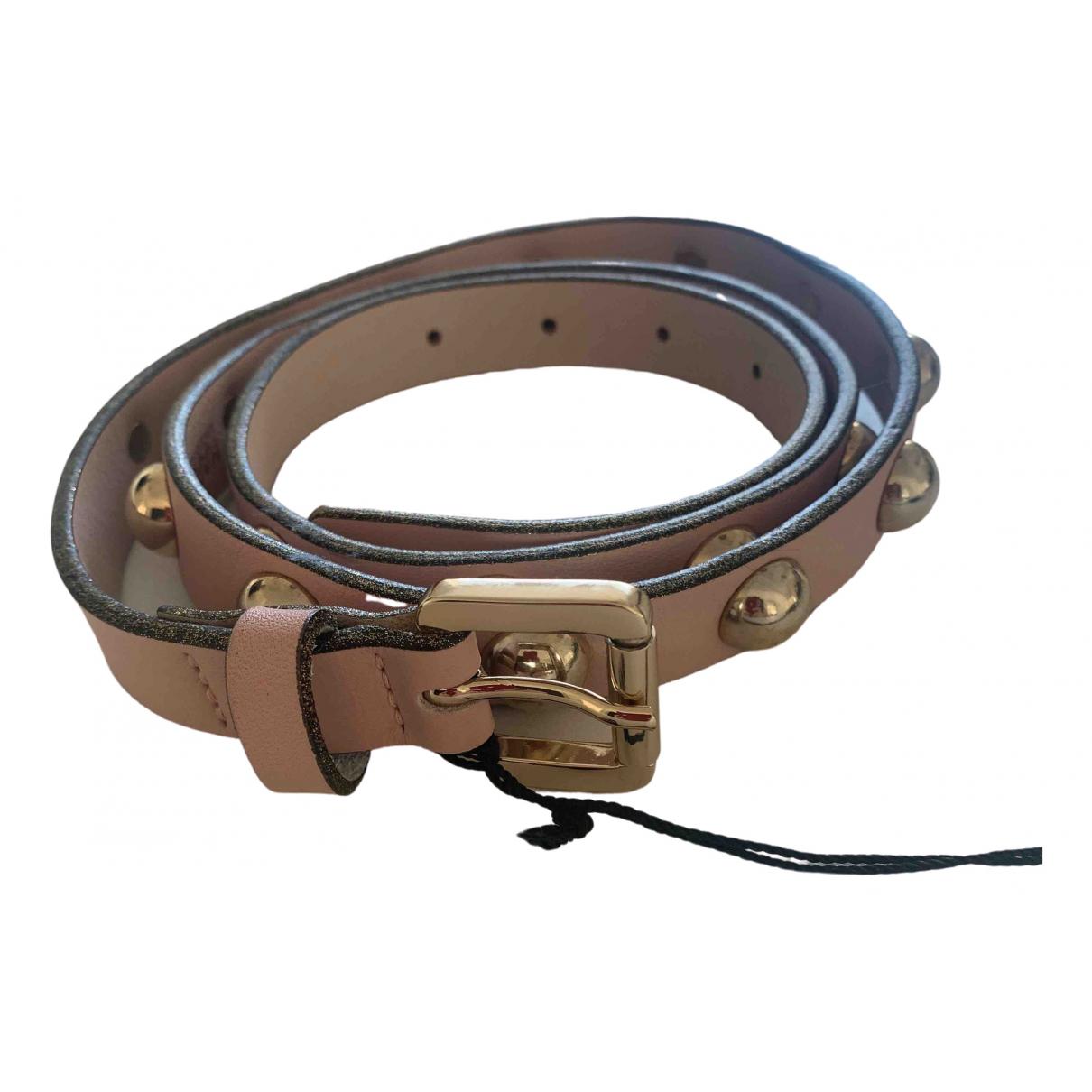 Karl Lagerfeld \N Pink Leather belt for Women 85 cm