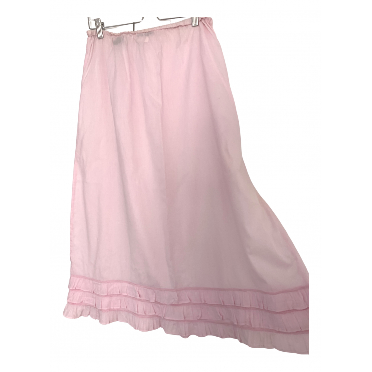 Claudie Pierlot \N Pink Cotton skirt for Women 2 US