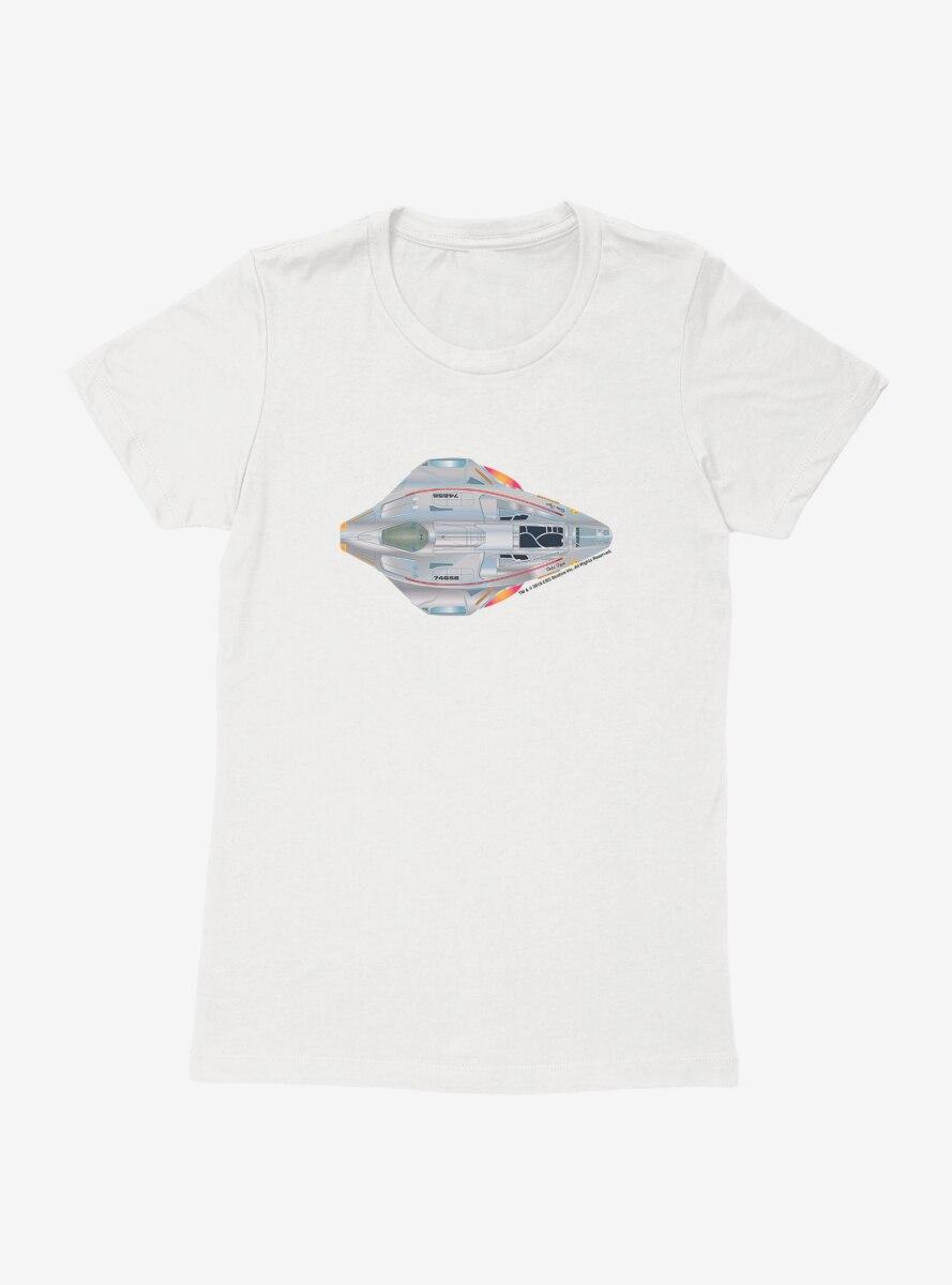 Star Trek N.C.C. 74656 Ship Model Three Womens T-Shirt