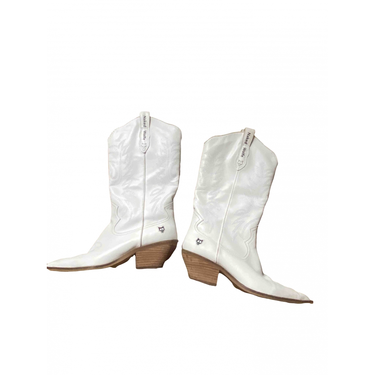 Naked & Famous \N White Fur Boots for Women 6 UK