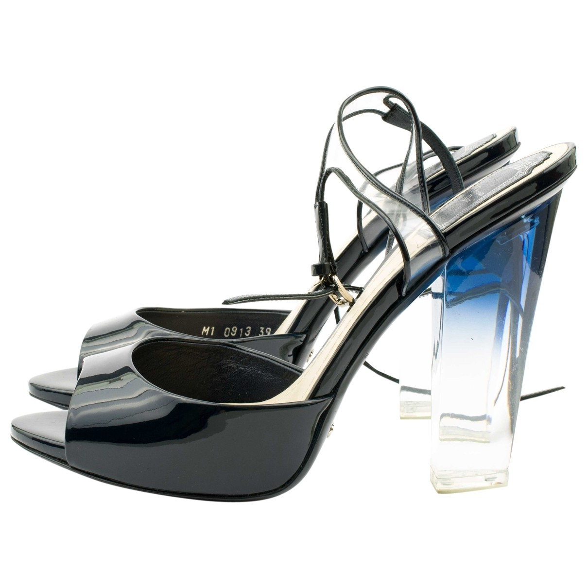 Dior \N Black Patent leather Sandals for Women 39 IT