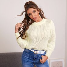 Solid Chunky Knit Sweater