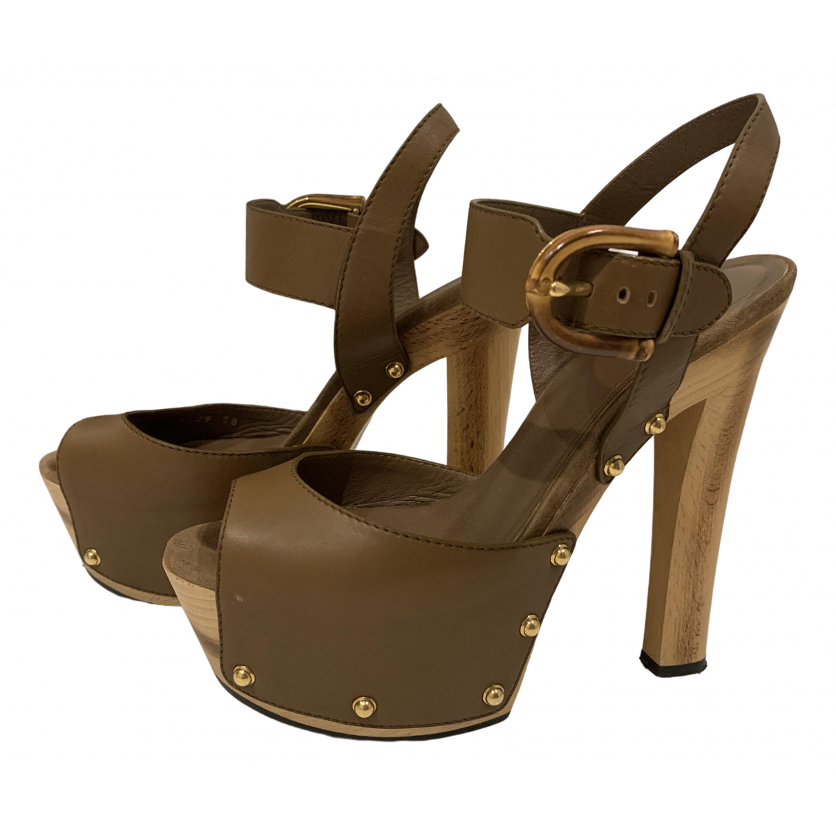 Gucci \N Brown Leather Sandals for Women 38 EU