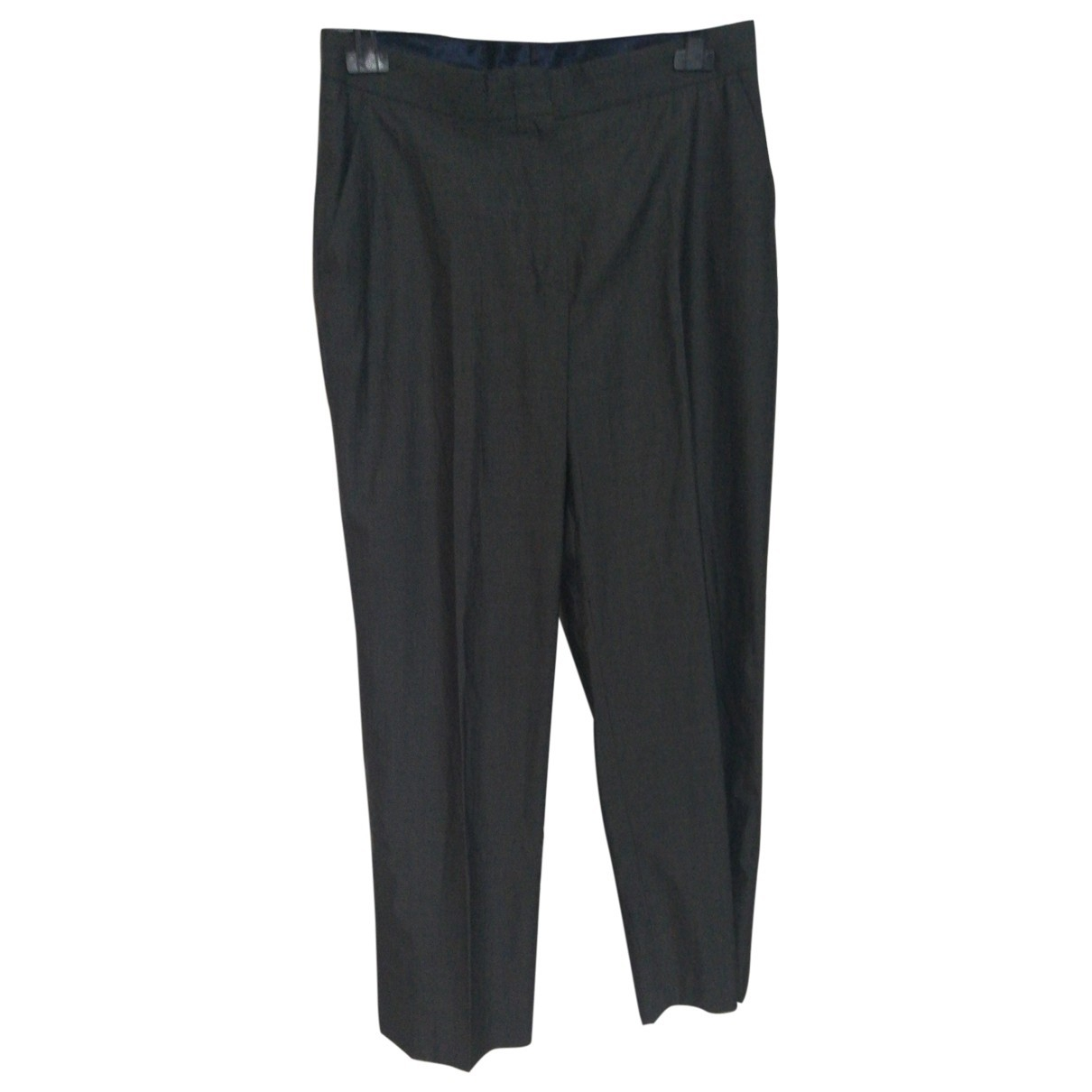Max Mara \N Anthracite Wool Trousers for Women 48 IT