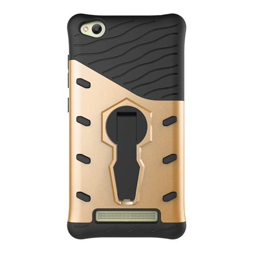 Armour Series Protective Phone Case 360 Degree Rotating Bracket Stand Cover For Xiaomi Redmi 4A - Gold