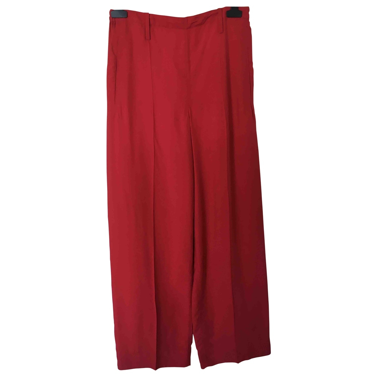 Lemaire \N Red Trousers for Women 40 FR