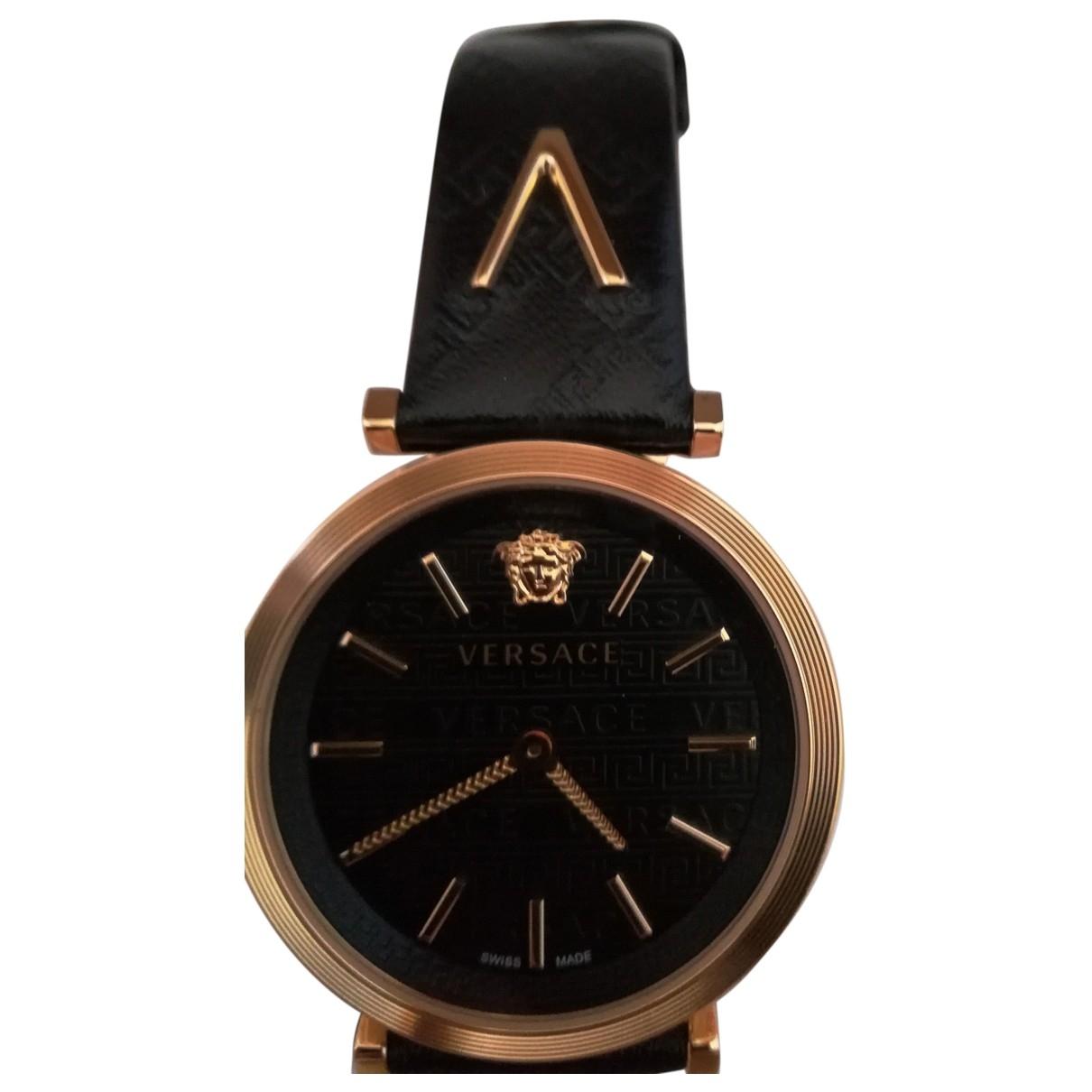Versace \N Black Steel watch for Women \N